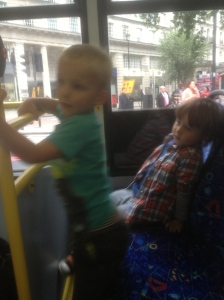 The boys livened the bus up with their dinosaur noises.