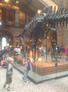Dinosaur action in London