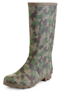 Marks and Spencer Camo wellies