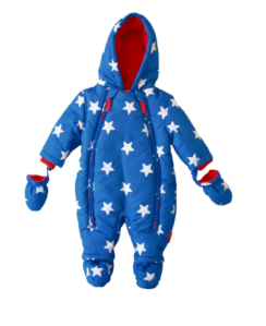 Toby Tiger fleece lined starsuit