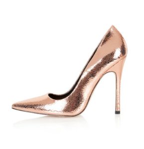 Court Shoes in Rose Gold